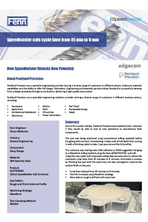 Speedtwister Case Study – Pentland Precision