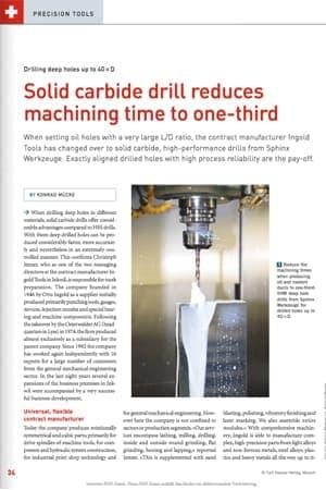 Sphinx – Solid Carbide Drill Case Study
